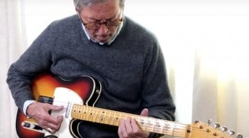 Eric Clapton plays the Fender Blind Faith Telecaster