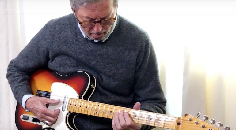 Eric Clapton plays the Fender Blind Faith Telecaster