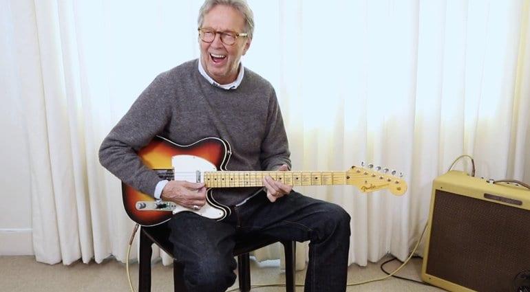 Eric Clapton plays his Blind Faith Telecaster