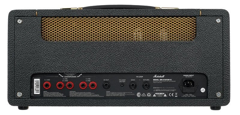 Marshall Studio Vintage SV20H - 20 watt Plexi style head FX loop on the rear panel, along with five out puts rated at 4, 8 and 16 ohms.