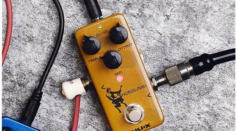 NUX Horseman - SIlver and Gold Klon pedal clone