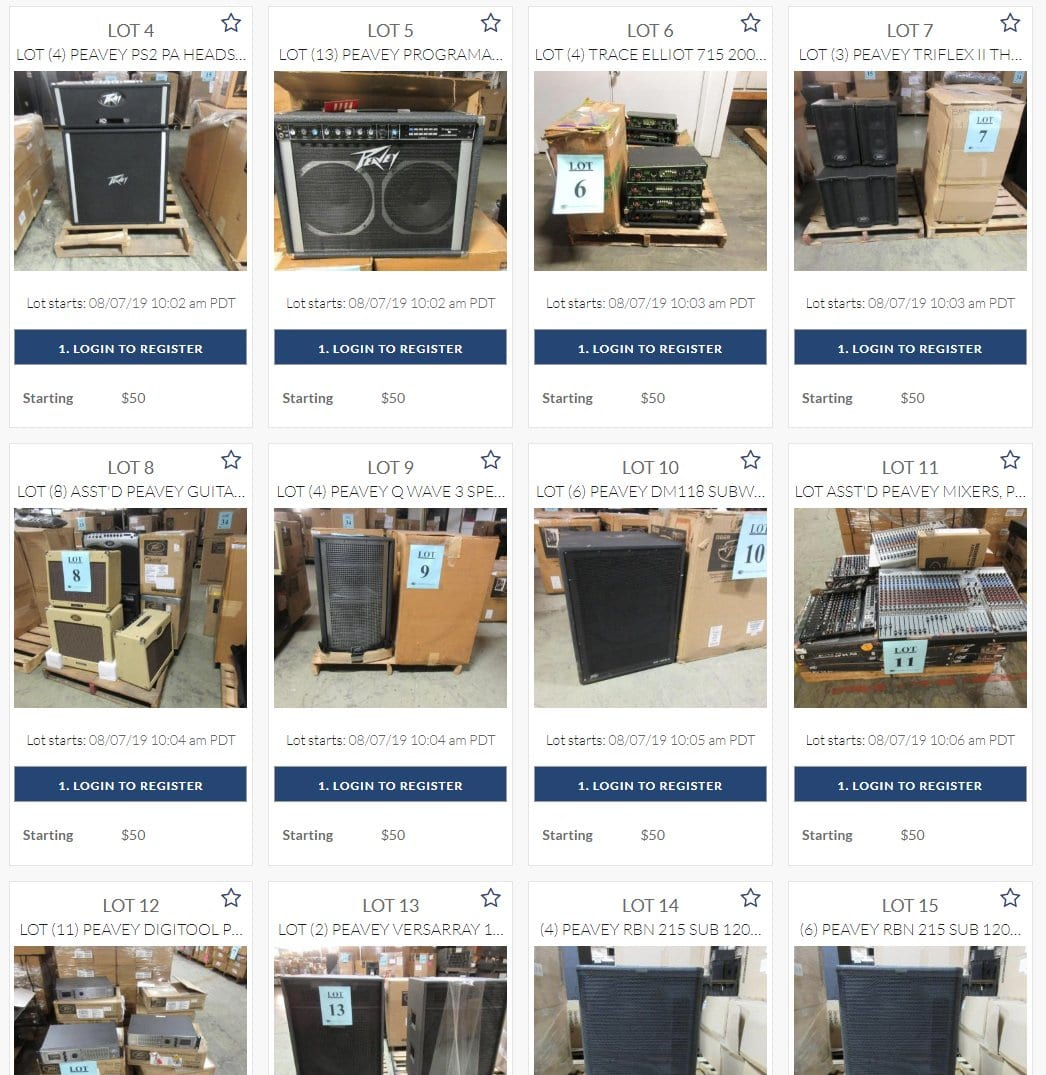 Peavey Auction
