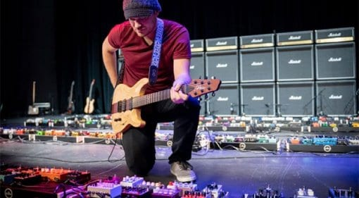 Rob Scallon breaks Guinness World Record for guitar effect pedalboard