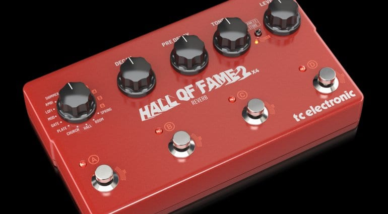 TC Electronic launches the newly expanded Hall Of Fame 2 X4 reverb pedal