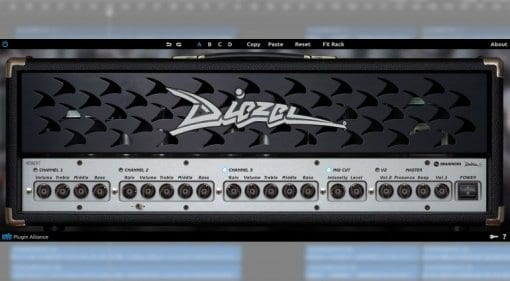 Brainworx Diezel Herbert plugin without the need for any DSP