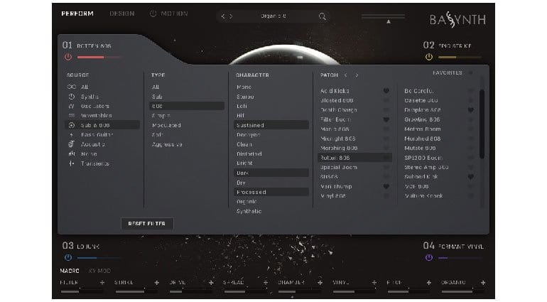 Wave Alchemy BASSYNTH Browser page