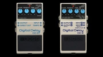 Boss DD-8 and DD-3T pedals