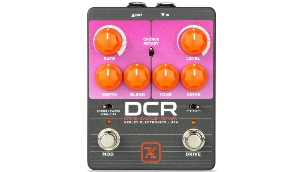 Keeley DCR pedal Drive, Chorus and Rotary