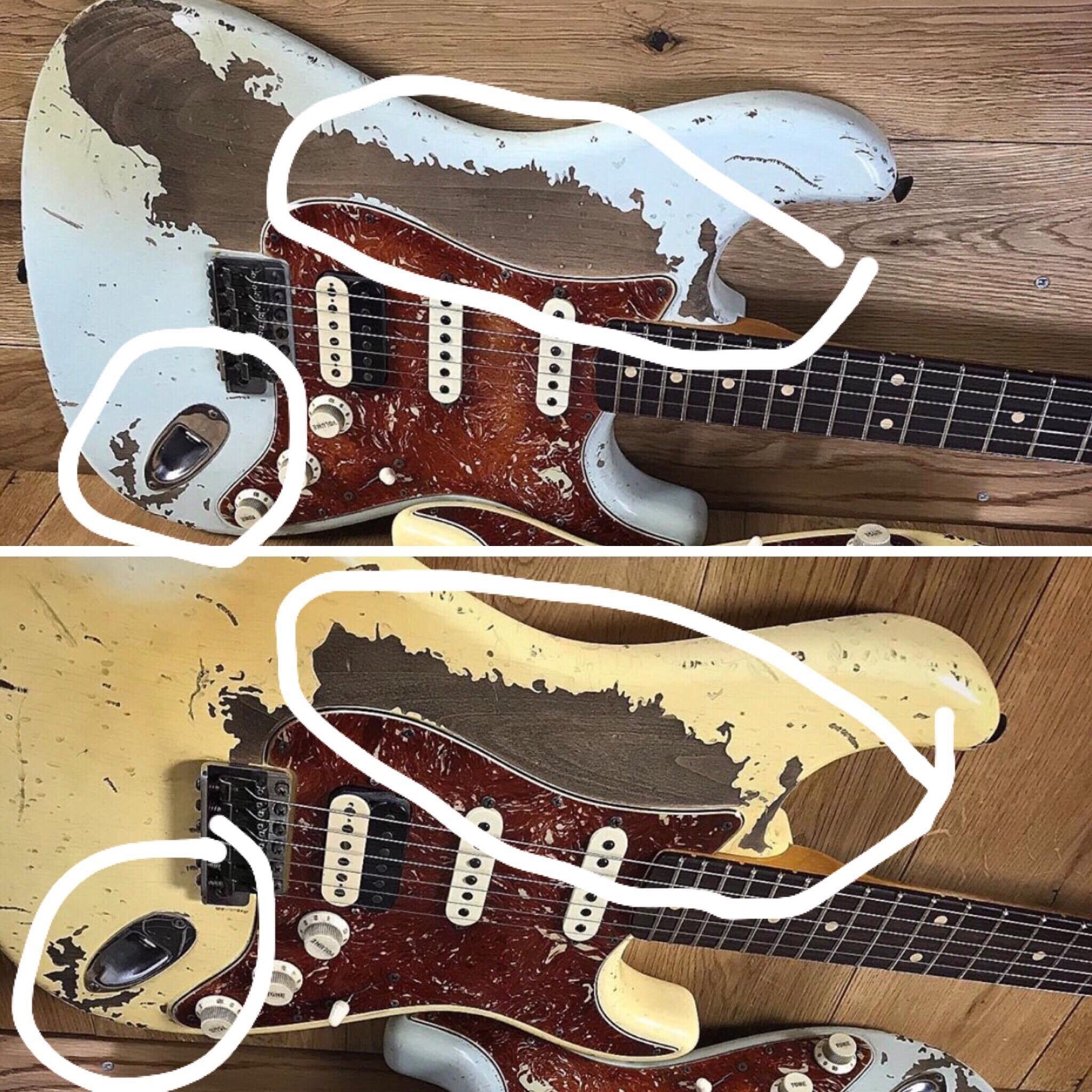 Poopot' Fender relic Stratocaster comparison