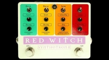 Red Witch unveils the Synthotron II analogue guitar synthesiser