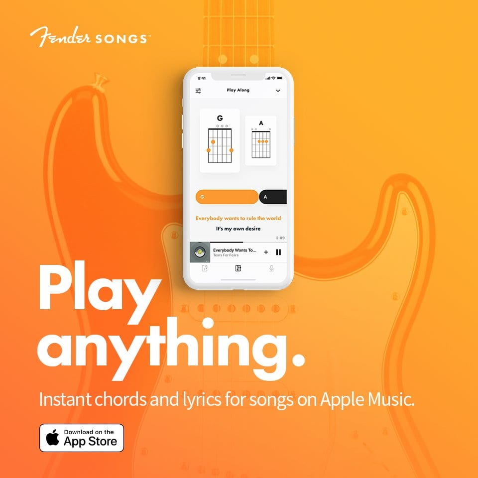 Fender Songs app launches on Apple iPhone