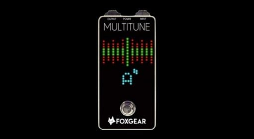 FoxGear pedals Multitune polyphonic tuner pedal