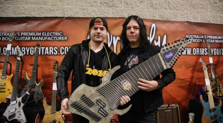 Jared Dines and the 18-string beast!