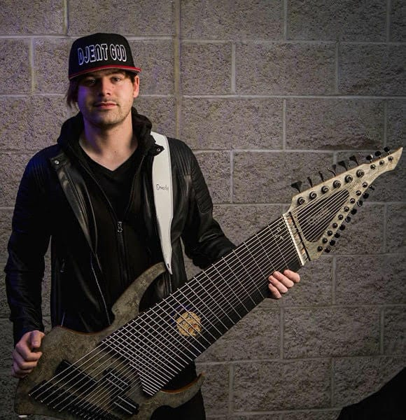 Jared Dines is selling his custom 18-string Ormsby guitar on eBay