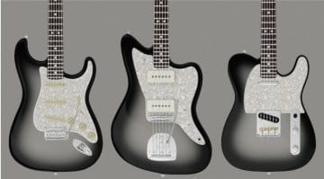 Silverburst Fender Strat, Tele and Jazzmaster