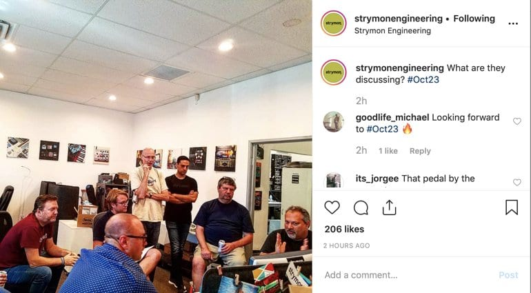 Strymon Instagram post