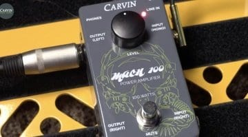 Carvin MACH 100 100 watt amp in a pedal