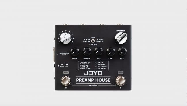 Joyo Preamp House pedal packs in 9 amps into one box