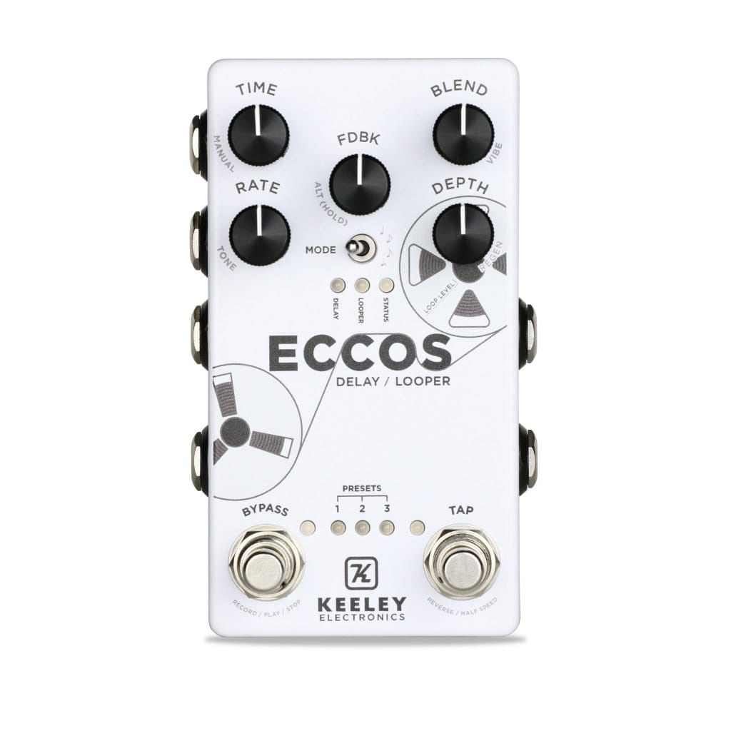 Keeley-Electronics-Eccos-Delay-Looper-Effect-Pedal-Front-1024x1024