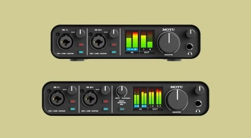 MOTU M2 and M4 audio interfaces