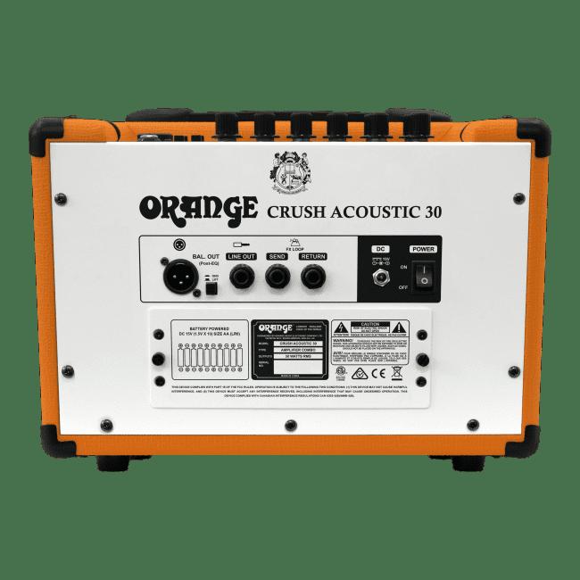 OrangeCrush Acoustic 30 rear panel