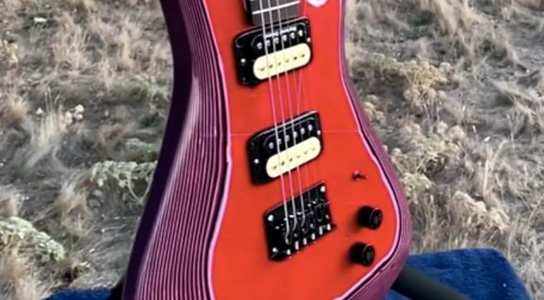 Burls Art PaperCaster Paper Guitar