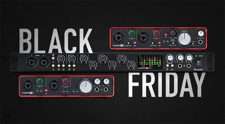 Focusrite Drops The Prices On Audio Interfaces For Black Friday Gearnews Com