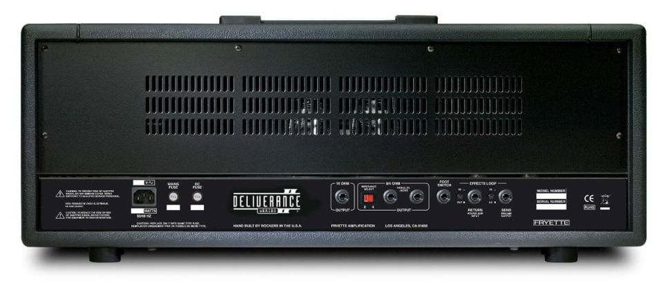 Fryette Deliverance Series II amp head rear panel