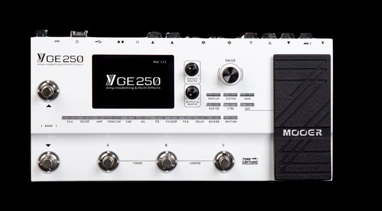 Mooer has just announced the GE250 multi-effects processor