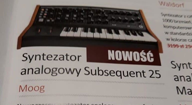 Leaked Moog Subsequent 25