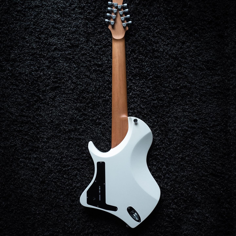 Abasi Guitars Larada 8 in Olympic White rear