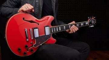 D'Angelico Premier and Excel Series semi-hollow Mini DC