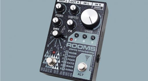 Death By Audio ROOMS stereo digital reverb pedal