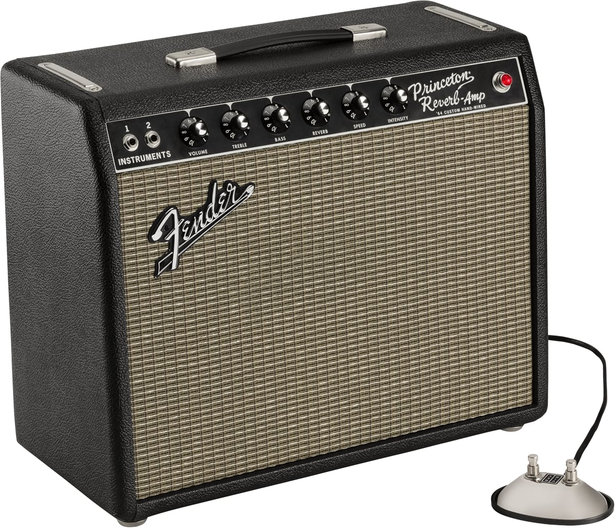 Fender hand-wired '64 Custom Princeton Reverb and footswitch