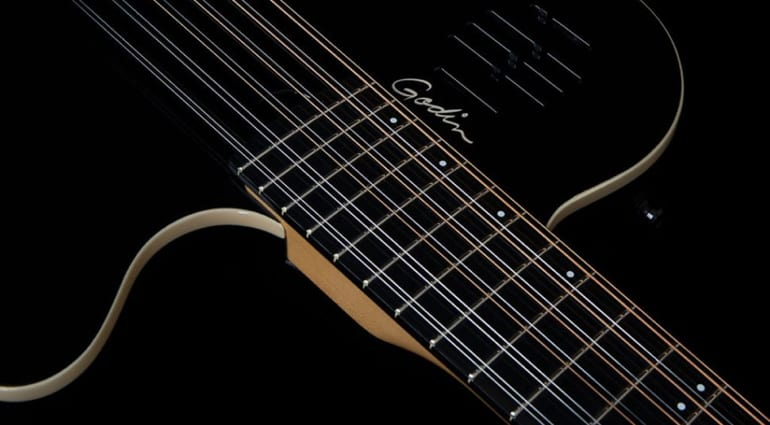 Godin A12 Black HG chambered 12-string