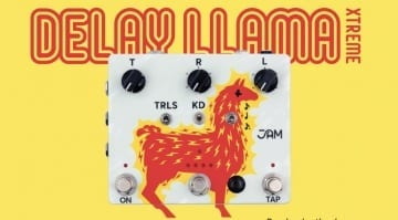 JAM Pedals Delay Llama Xtreme analogue BBD delay pedal