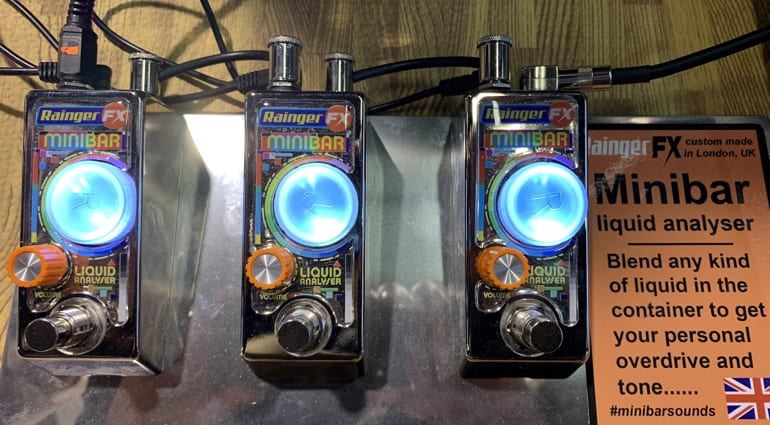 Rainger FX Mini Bar Overdrive pedal at NAMM 2020