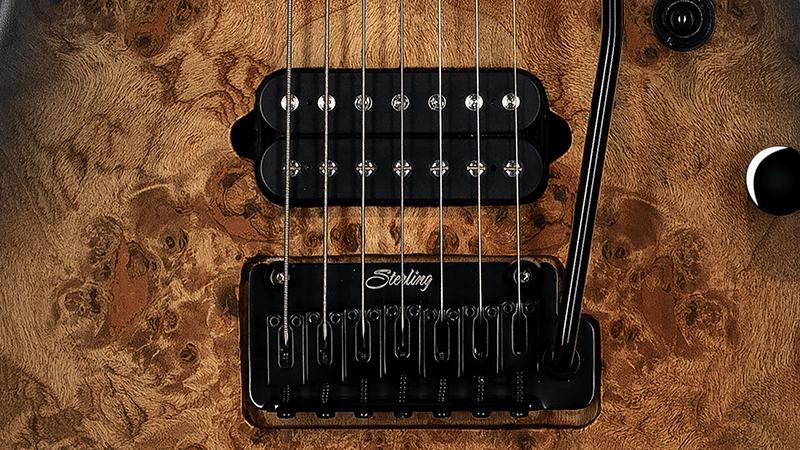 Sterling by Music Man Jason Richardson seven-string Cutlass trem