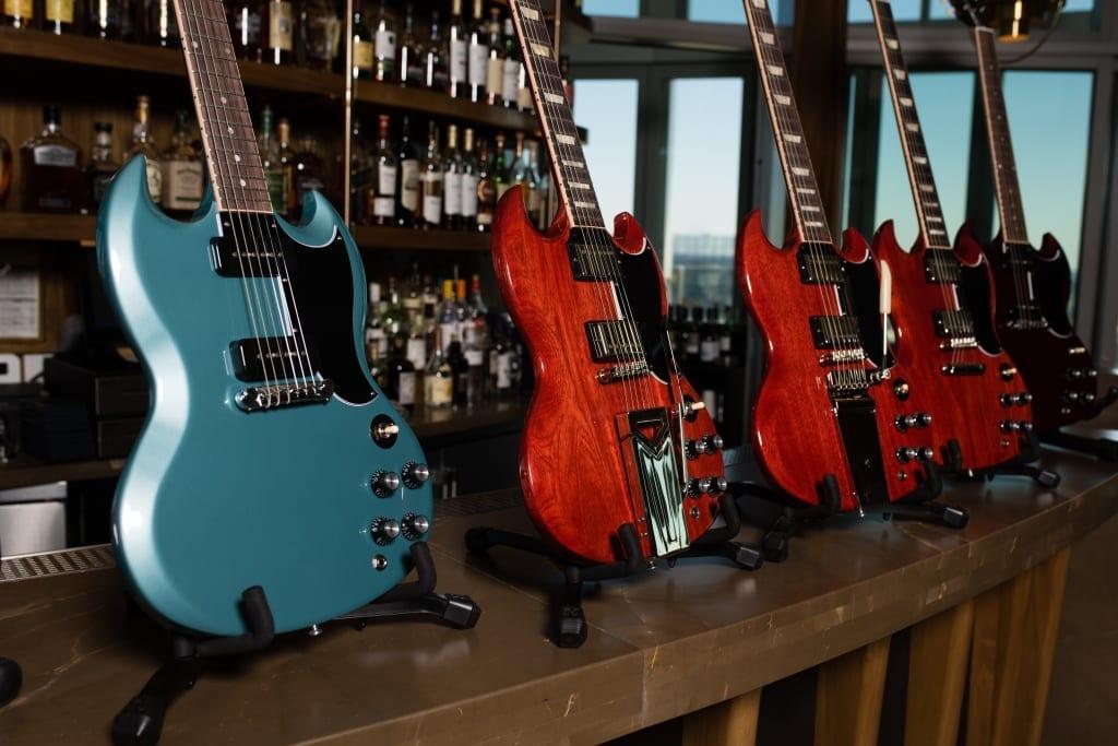 Gibson SG Standard in PelhamBlue and VintageCherry
