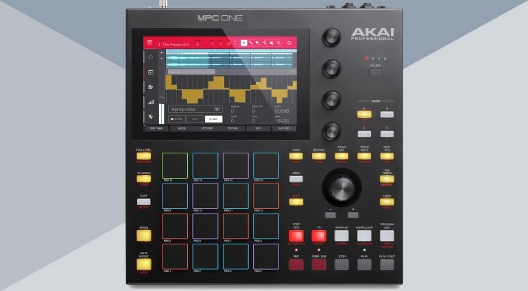 akai mpc one front