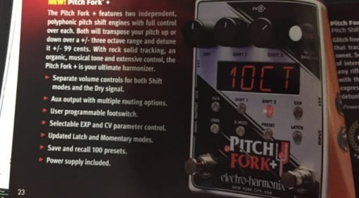 3 octaves up / down, 99 cents, 2 pitch shift engines - EHX pitch fork + LEAK