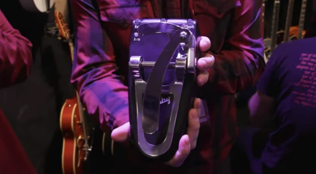 Gamechanger Audio Bigsby pedal prototype at Winter NAMM