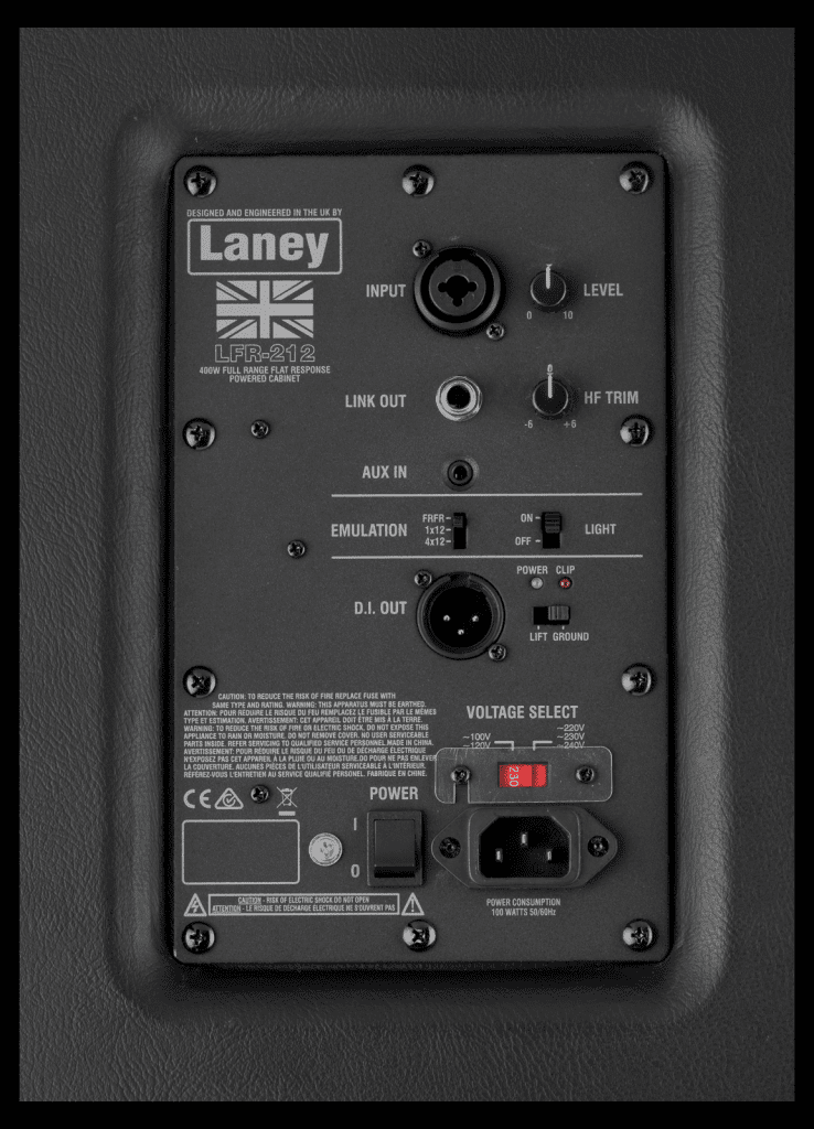 Laney LFR-212 rear panel