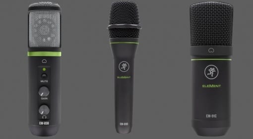Mackie Elements microphones
