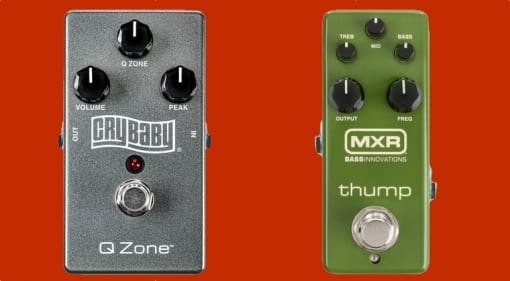 Crybaby Q Zone Fixed Wah and MXR Thump Bass Preamp