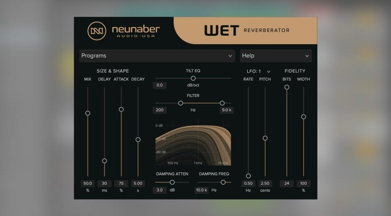 Neunaber Audio Wet Reverberator plug-in