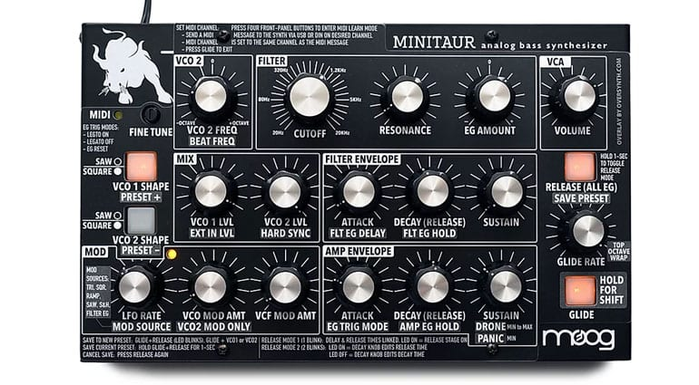 Oversynth Minitaur and Sirin overlay Blackphase