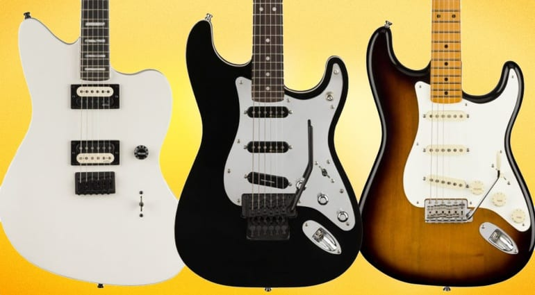 Fender Tom Morello Soul Power signature Strat, Jim Root Jazzmaster and Eric Johnson 'Virginai' Signature Stratocaster