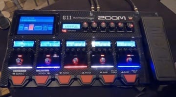 Zoom G11 multi-effects unit