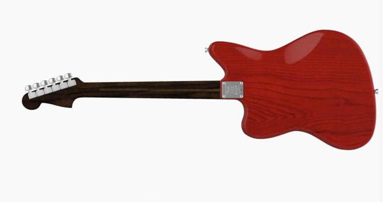 Fender Mod Shop Jazzmaster Rosewood neck rear